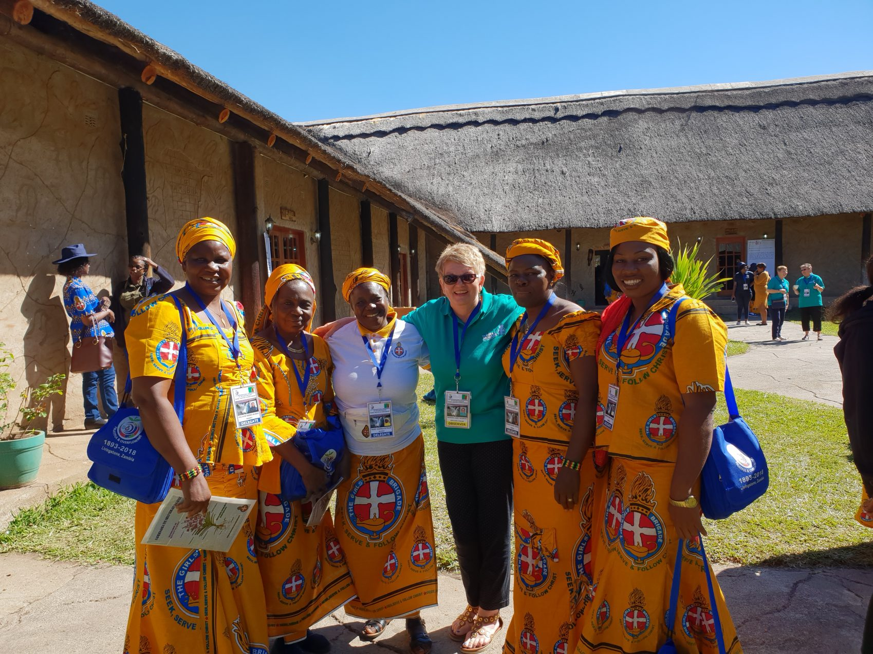 Girls' Brigade England and Wales volunteer with international Girls' Brigade members