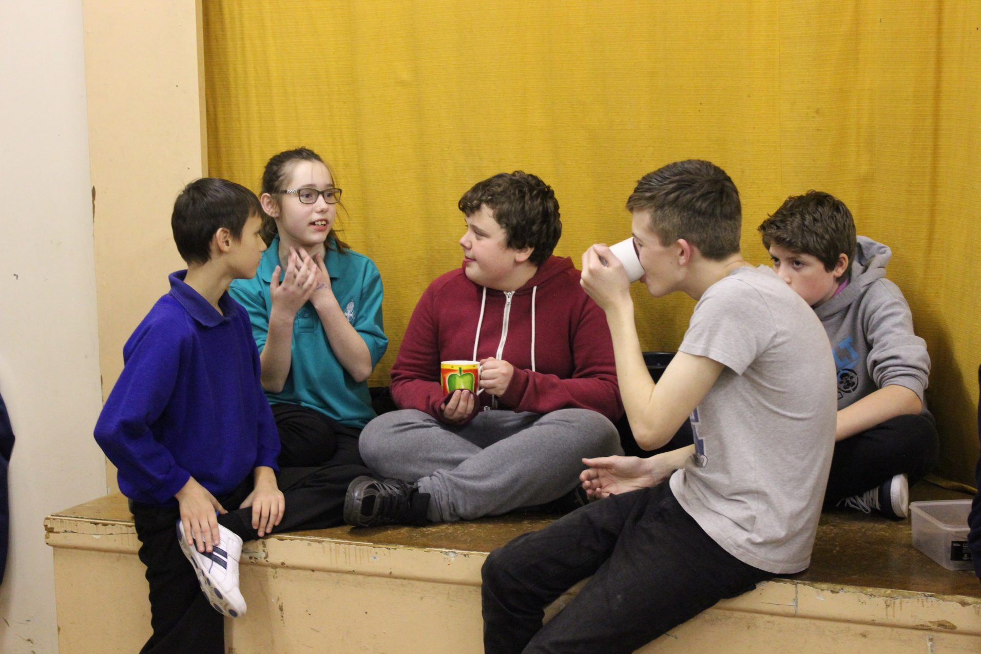 Young people chatting