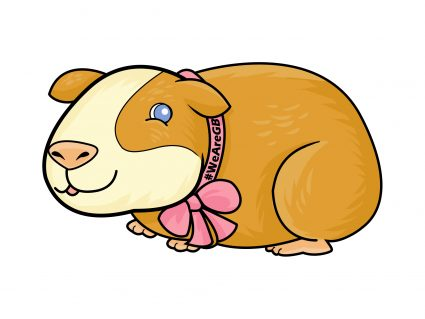 Popcorn the Guinea Pig mascot