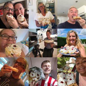 Belgian bun recipients collage