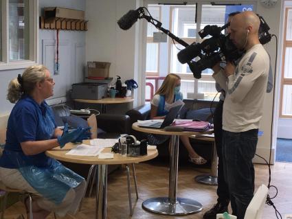 1st Guildford leader being filmed