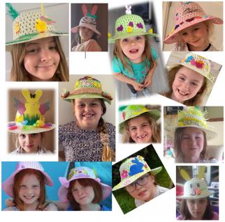 3rd southwick girls in easter bonnets