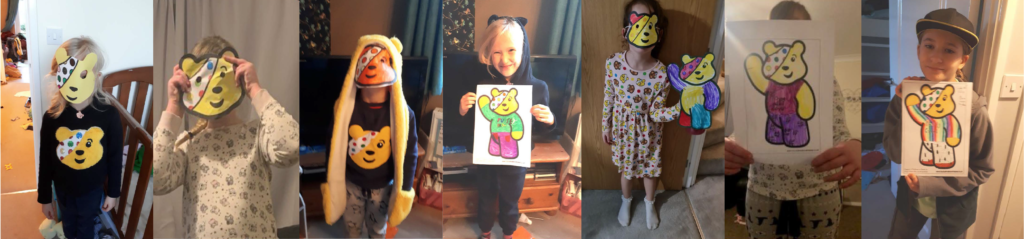 1st Goodrington children in need collage