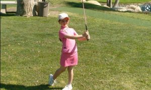 Emma Gourley as a young golfer
