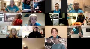 GB members baking on Zoom