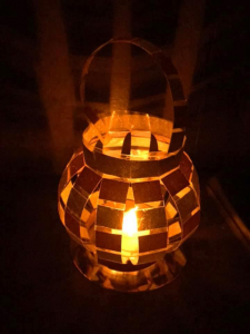 paper lantern with candle