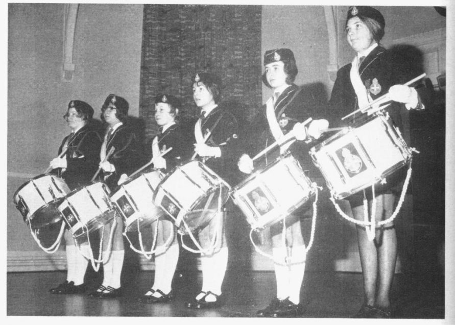 GLB members with drums